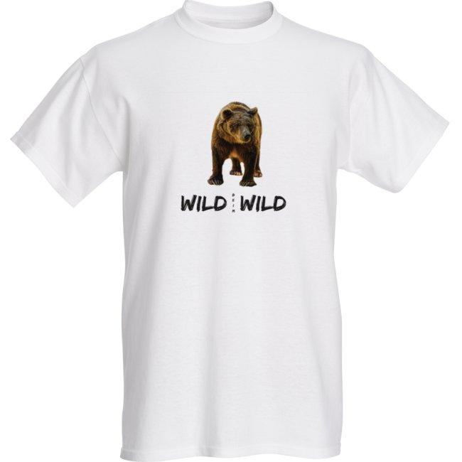 Wild beim Wild T-Shirt Weiss Logo ihrer Wahl Vorderseite Unisex